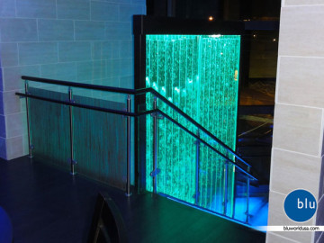 Custom bubble panel with color changing lights by Bluworld