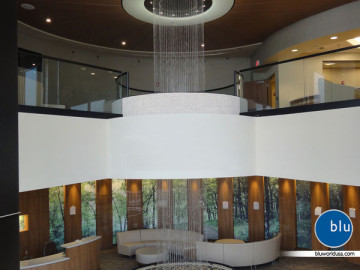 Custom rain curtain for hospital by Bluworld