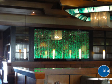 Bluworld custom indoor bubble panels for private residence
