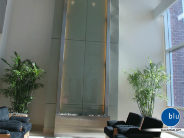 Indoor Waterwall Feature by Bluworld
